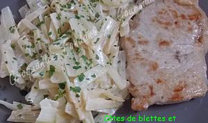 Côtes de blettes et côtelettes de veau
