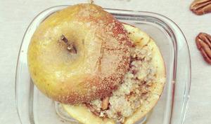Pommes au four farcies aux flocons d'avoine