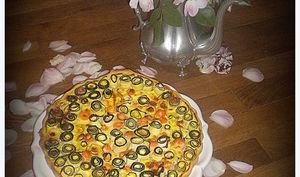 Tarte en fleurs courgette et saumon