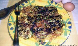 L'omelette aux asperges vertes