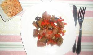 Poêlée de magret de canard et petits légumes