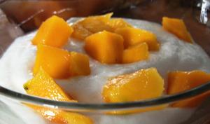La mousse de fromage blanc à la mangue coeur passion