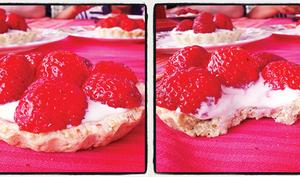 Tartelettes pistaches & fraises