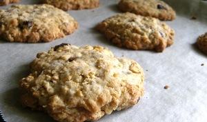 Cookies choco-noisettes sans oeuf aux flocons d'avoine