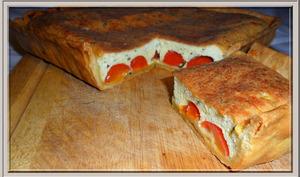 Tarte à la ricotta et aux tomates cerises