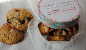 Cookies au chocolat noir et à la banane