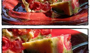 Clafoutis cerises et pistaches