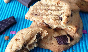 Les cookies au beurre de cacahuètes et au chocolat noir