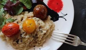 Risotto au gorgonzola et aux tomates cerises confites
