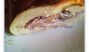 Fougasse jambon-champignon