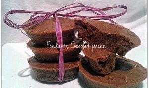 Fondants Chocolat Pécan ww