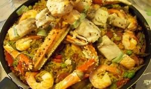 """Un riz façon """"Paëlla au poisson"""" au fumet de langoustines"""