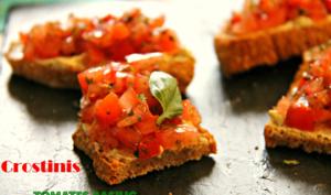 Crostinis aux tomates & basilic