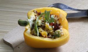 Salade Quinori Poivron Avocat & Lardons