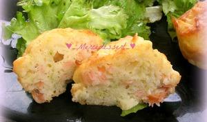 Muffin au saumon, pomme verte et citron vert