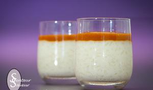 Riz au lait à la vanille et sauce au caramel beurre salé