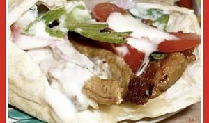 Chawarma libanais en sandwich