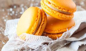 Macaron Dulcey coeur Mangue et Coco