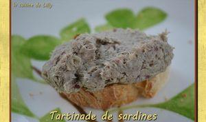 Tartinade de sardines au wasabi