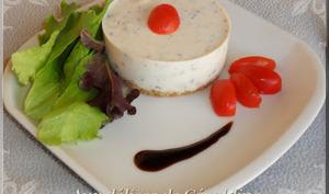 Cheesecake salé, ricotta, tomates séchées et basilic