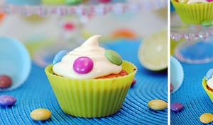 Cupcakes citron vert et Smarties
