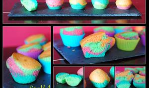 Muffins marbrés multicolores