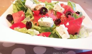Salade pastèque et féta