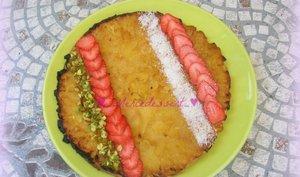 Tarte tatin ananas et son coulis de fraises