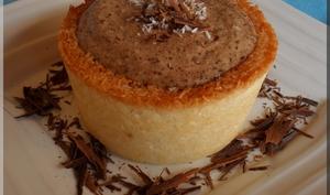 Rocher à la noix de coco revisité à la mousse au chocolat au lait
