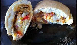 Calzone jambon champignons