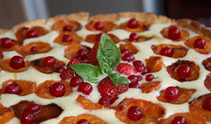 Tarte aux fruits aux saveurs fenouil basilic