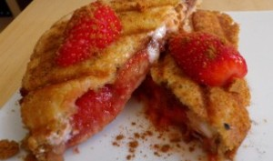 Croque fraise, nougat et speculoos