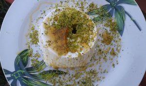 De la ricotta aux pistaches et miel de caroube