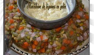Couronne de macédoine de légumes en gelée