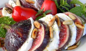 Salade figues mozzarella
