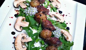 Saucisses de veau et bonnottes de Noirmoutier