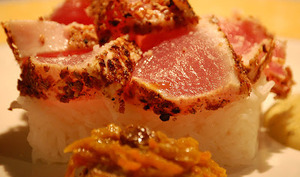 Chaud froid de thon rouge