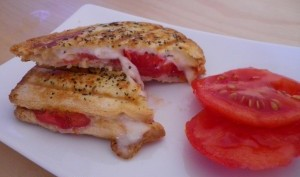 Croque tomate mozzarella