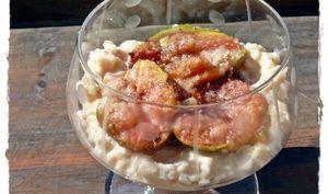 Figues rôties aux amandes sur riz au lait