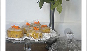 Blondie carrot cakes au cuit-vapeur