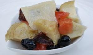 Salade de fonds d'artichauts aux 2 tomates et parmesan