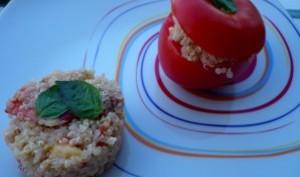 Tomates farcies au quinoa et au thon