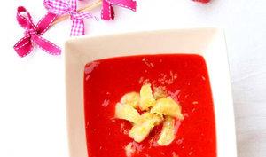 Soupe aux fraises et ses gnocchi maison