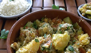 Tajine de boulettes de sardines aux tomates et citrons confits