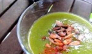 Le vert'louté de l'été, velouté froid aux légumes verts