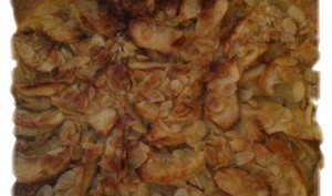 Tarte pomme amandes effilées