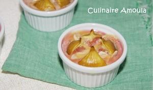 Petit gratin de figue à la pâte d'amandes, à l'orange et aux brisures d'amaretti