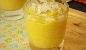 Crème a la mangue et coco