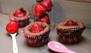 Muffins ultra moelleux : fraise et chocolat fleur de sel