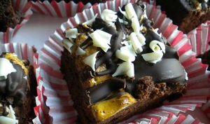 Brownies gourmands à la guimauve, à la fève tonka et au chocolat blanc
